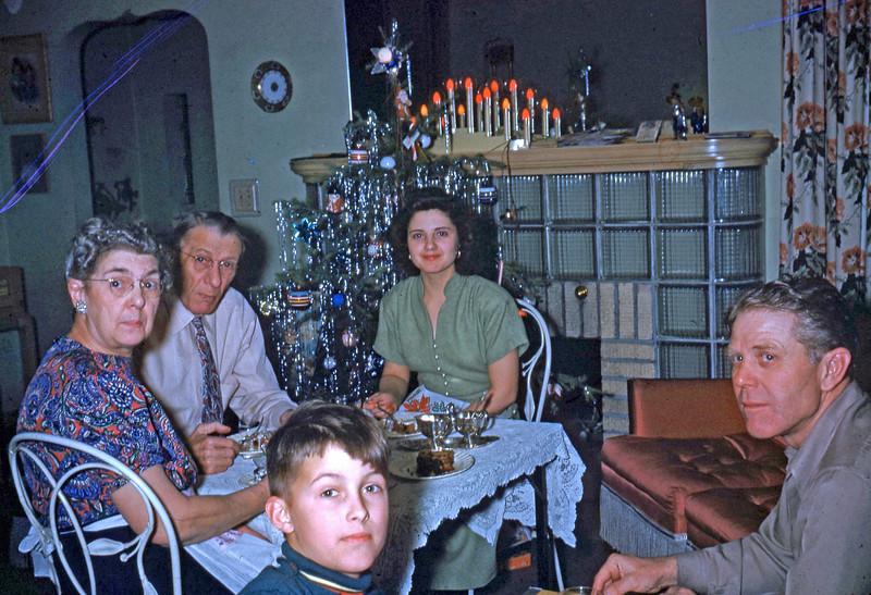 12-25-49 ... Folks - Naomi - Max & Steve ... our Christmas dinner