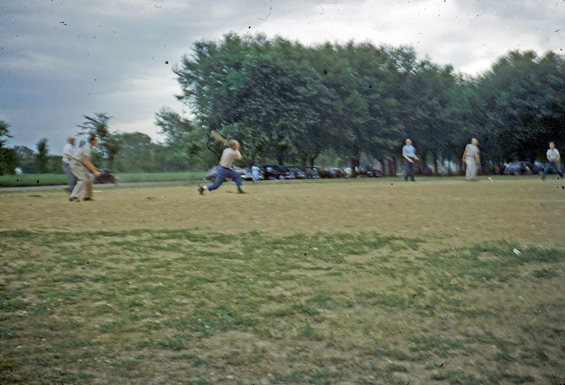 July 4, 1950 - Max on church ball team