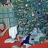 Dec. 1950 - Grandma & Elaine, Christmas on Bauman