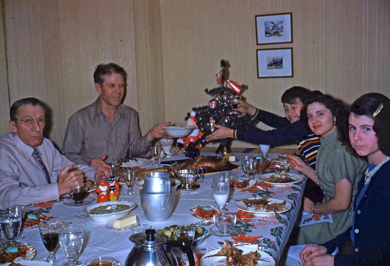 12-25-49 ... Our dinner table Christmas