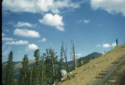 Cog line on the way up Pike's Peak ... looks steep!