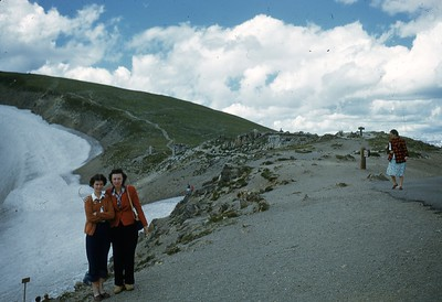 Elaine & Mother - On top of Fall River Pass
