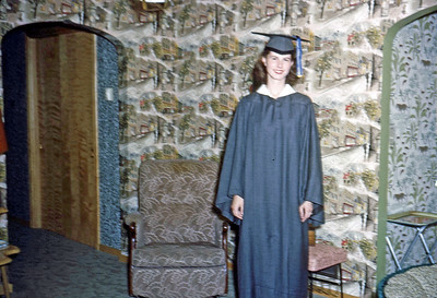 June 1954 - Elaine's graduation from North High
