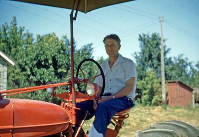 Aug 1948 - Max on Diehl farm