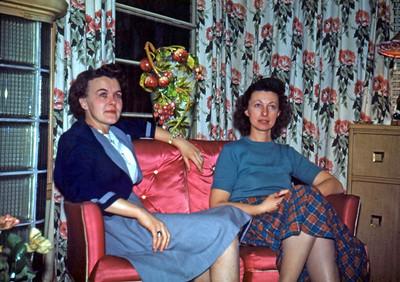 1949 - Dorothy Diehl & Lucile Eckert - Cousins - 2414 Bauman