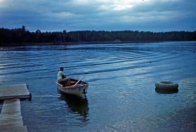 Aug 1959 - Steve Adkins at Lake Belltaine, Minn