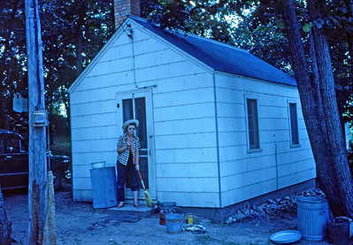 July 1952 - Me at our cabin, Riverside Camp, Minn