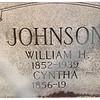 Tombstone of William & Cinthia(Harbour) Johnson