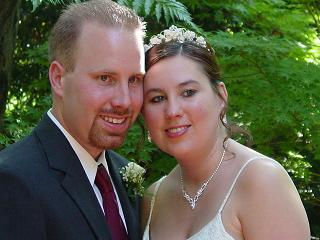 Newlyweds John & Deborah Baranowski 8/23/03<br /> daughter of Carol Robertson Burnash Schleeter<br /> granddaughter of Frank & Jeraldine Robertson