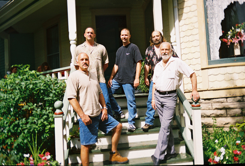 My husband Daryll Schleeter and step-sons -  July 2005...Dennis, Richard, Royce, Doug & Daryll (starting from bottom left and going around)