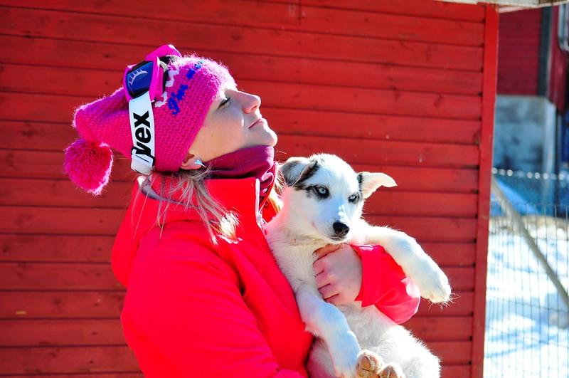 Mona Anita Olsen on the Sirdal Husky Farm in Norway..JPG