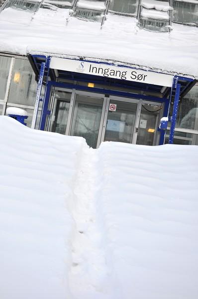 Snow Drifts at the University of Stavanger (Stavanger, Norway)