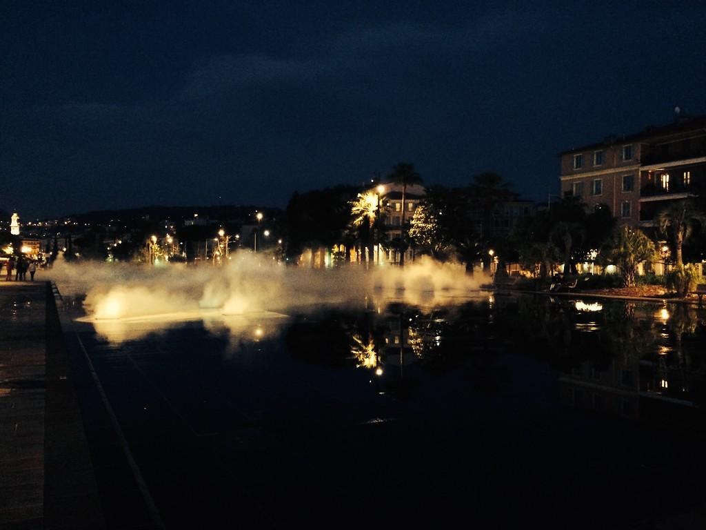 Nice centre fountains Espace Massena