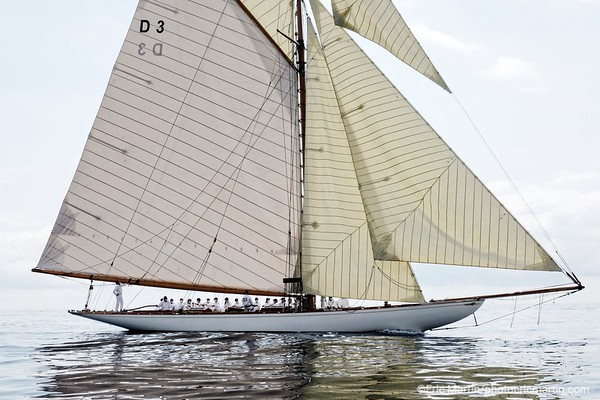 MONACO. Le voilier de course Tuiga. Joyau de la Principauté,  il est le vaisseau amiral du Yach Club de Monaco