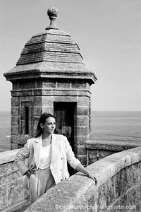MONACO. Pauline Ducruet, fille cadette de la Princesse Stéphanie de Monaco, est vêtue d'un costume qu'elle a dessiné pour sa marque Alter Designs.