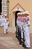The changing of the guard ceremony at the Prince's Palace of Monaco.