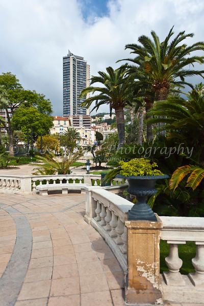A small park in the Principality of Monaco.