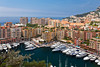 Port de Fontvielle marina and yacht basin in the Principality of Monaco.