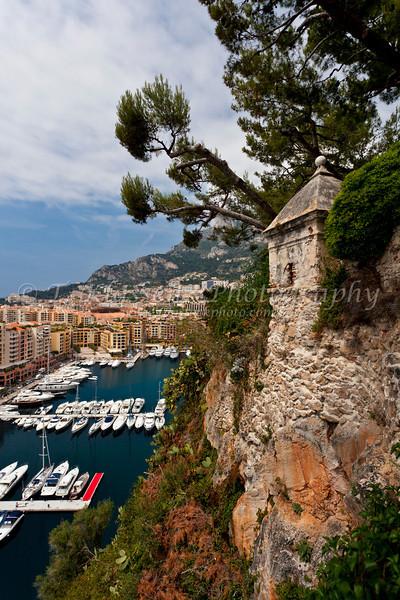 Port de Fontvielle marina and yacht basin in the Principality of Monaco.