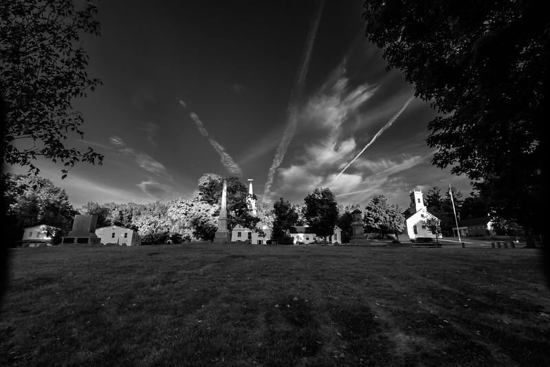 Temple Sunrise - Black & White