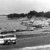 A large crowd at Lake Lavon, 1950's. That station wagon is probably worth a lot more these days.