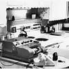 A UPI telephoto machine set up in a kitchen in Johnson City, Texas. Film was developed and printed wet for a quick transmission from a LBJ ranch event as the drive back to Austin took about an hour. Circa 1960 Photo by Dale Monaghen.