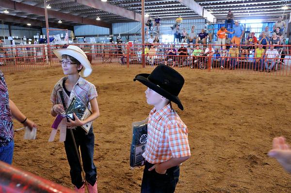 Jordan and Wyatt Monaghen Show Calves 8.3.2014
