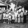 GrandMa and GrandPa Lueb with grandchildren at their farm near Durant, Okla.