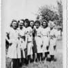 Grandma Lueb and the six Lueb sisters.