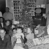 Christmas with the Monaghen's at 3212 Milton, Dallas, Texas, December 1950. Relatives usually came here on Christmas eve to wait for Santa.