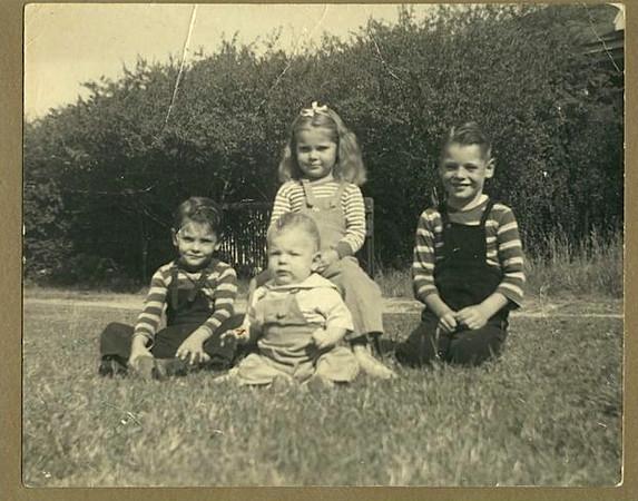 (L-R) Tom, Boyd, Barbara and Dale Monaghen (1944)