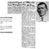 Dallas newspaper article about Con Monaghen's death. 1954.