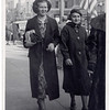 Bertha Watersheid (L) and Anna Mae Lueb, Dallas, Texas, 1930's. This image is a postcard. Taken by a photographer set up on the street to photograph people as they walked by. (caption from information on back of postcard)
