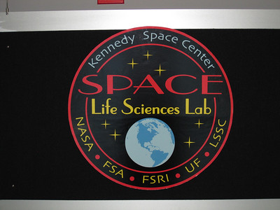 The Space Life Sciences Lab (SLSL) - this is where all of the life science experiments, including the monarch habitat, will be packed up for transport to the space shuttle. Photo by Jim Lovett