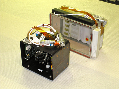 Monarch habitat and its camera module. Photo by Jim Lovett