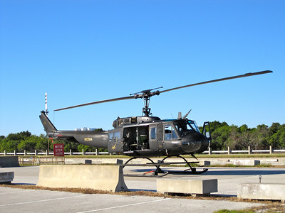 One of several heavily armed helicopters that will patrol the area on launch day. Photo by Jim Lovett
