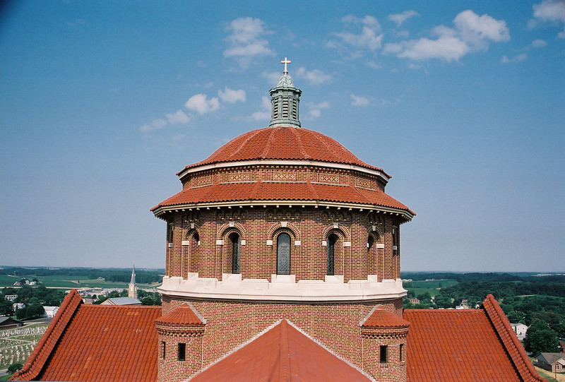 Exterior of the monastery church dome. Photo by Bill Sheets Photography, Louisville, Kentucky.