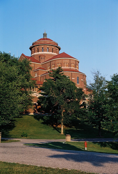 Exterior of the monastery church. Photo by Bill Sheets Photography, Louisville, Kentucky.