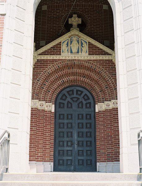 Front entrance to the crypt. Photo by Bill Sheets Photography, Louisville, Kentucky.
