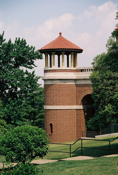 Turret off the colonnade. Photo by Bill Sheets Photography, Louisville, Kentucky.