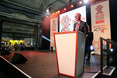 21st International AIDS Conference (AIDS 2016), Durban, South Africa. Monday 18th July 2016, VENUE : Global Village - Main Stage Film Event : Every Footstep Counts Awards (MOCA18) Speaker : Owen Ryan Photo©International AIDS Society/Abhi Indrarajan