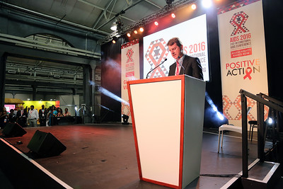 21st International AIDS Conference (AIDS 2016), Durban, South Africa. Monday 18th July 2016, VENUE : Global Village - Main Stage Film Event : Every Footstep Counts Awards (MOCA18) Speaker : David Redfern Photo©International AIDS Society/Abhi Indrarajan