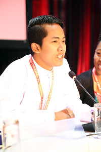 21st International AIDS Conference (AIDS 2016), Durban, South Africa. Monday 18th July 2016, VENUE : Global Village - Room 1 GV MEET THE EXPERTS : GETTING A SEAT AT THE TABLE : YOUNG LEADERS SHARE THE HIGHS AND LOWS OF LEADERSHIP AND ACCOUNTABILITY (MOGS01) Speaker : Myo Thet OO (Myanmar) Photo©International AIDS Society/Abhi Indrarajan