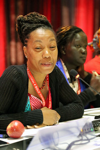 21st International AIDS Conference (AIDS 2016), Durban, South Africa. Monday 18th July 2016, VENUE : Global Village - Room 1 GV MEET THE EXPERTS : GETTING A SEAT AT THE TABLE : YOUNG LEADERS SHARE THE HIGHS AND LOWS OF LEADERSHIP AND ACCOUNTABILITY (MOGS01) Speaker : Ebony Johnson (USA) Photo©International AIDS Society/Abhi Indrarajan
