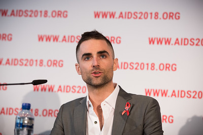 22nd International AIDS Conference (AIDS 2018) Amsterdam, Netherlands   Copyright: Marcus Rose/IAS  Photo shows: Official AIDS 2018 Opening Press Conference. Quinn Tivey Ambassador & Officer, Elizabeth Taylor AIDS Foundation.