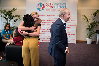 22nd International AIDS Conference (AIDS 2018) Amsterdam, Netherlands   Copyright: Marcus Rose/IAS  Photo shows: Official AIDS 2018 Opening Press Conference. Green Room.