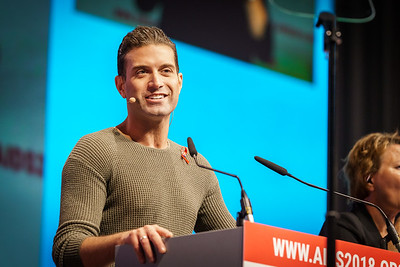 22nd International AIDS Conference (AIDS 2018) Amsterdam, Netherlands.   Copyright: Matthijs Immink/IAS  Opening ceremony  Photo shows: Omar Sharif Jr.