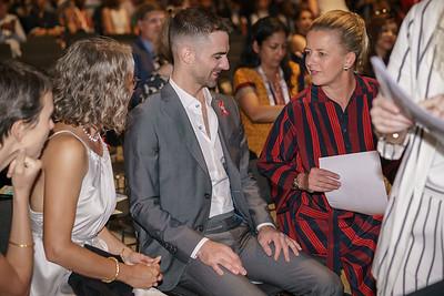 22nd International AIDS Conference (AIDS 2018) Amsterdam, Netherlands.   Copyright: Matthijs Immink/IAS  Opening ceremony  Photo shows: Grandchildren of Elizabeth Taylor, Prinses Mabel van Oranje