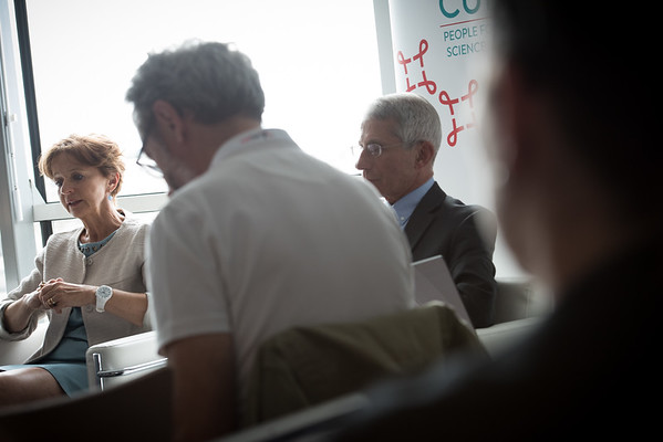 9th IAS Conference on HIV Science (IAS 2017) Paris, France. Copyright: Marcus Rose/IAS  Photo shows: Cure/Cancer Media Roundtable