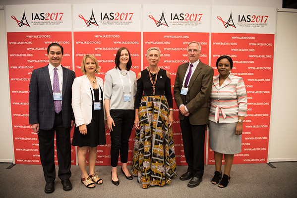 9th IAS Conference on HIV Science (IAS 2017) Paris, France. Copyright: Marcus Rose/IAS  Photo shows: Backstage at the Plenary Press Conference.